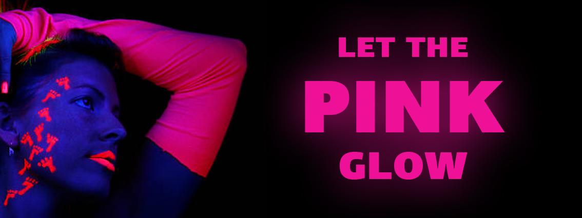 Печат със светещо флуоресцентно розово мастило