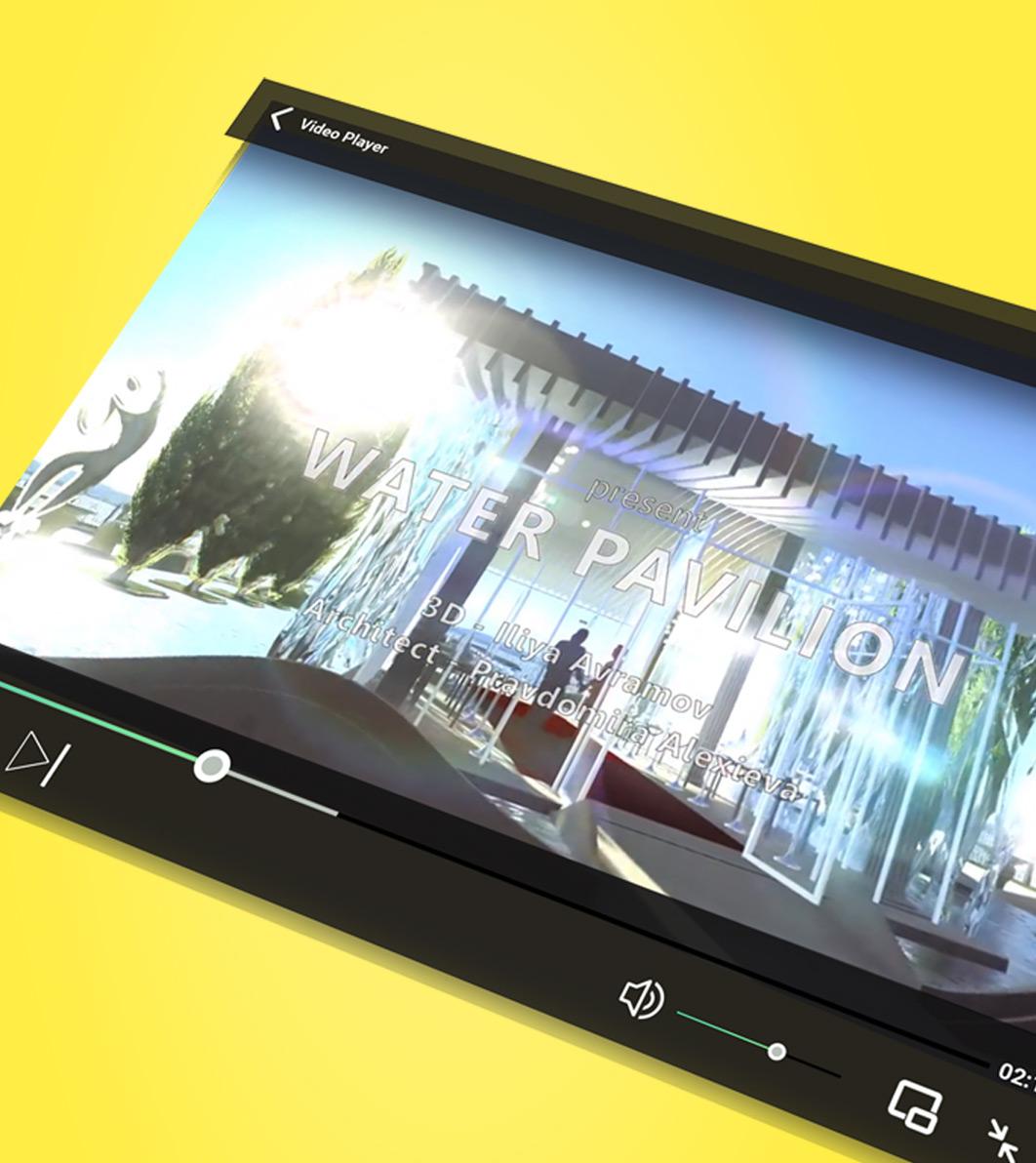Архитектурна 3D визуализация - видео