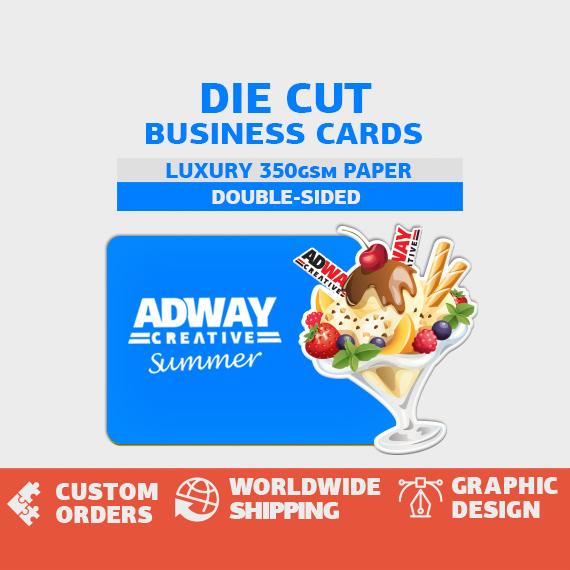 Визитни картички с неправилна форма