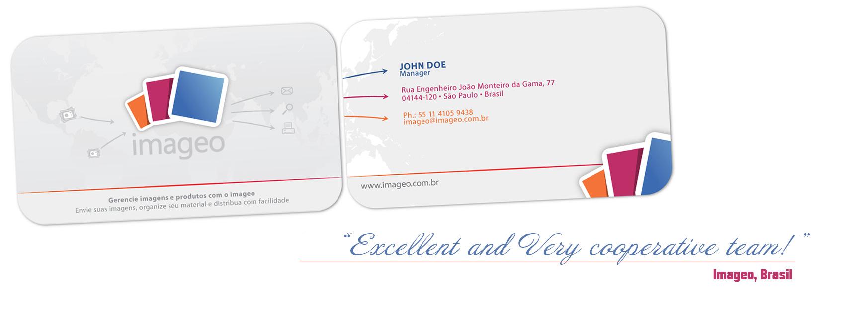 Дизайн на визитни картички Imageo