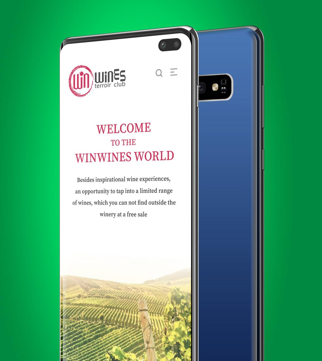 Начална страница на онлайн магазин WinWines