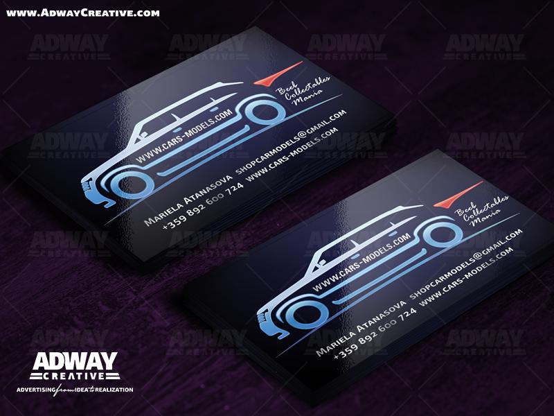 Печат на визитни картички с UV лак гланц