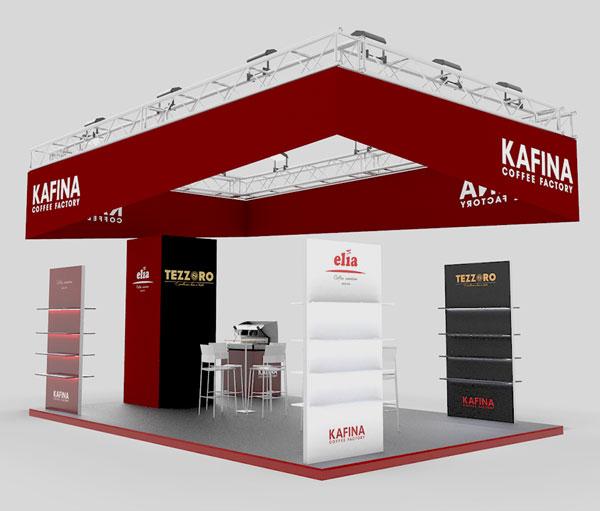 Проектиране на щанд за Kafina 2
