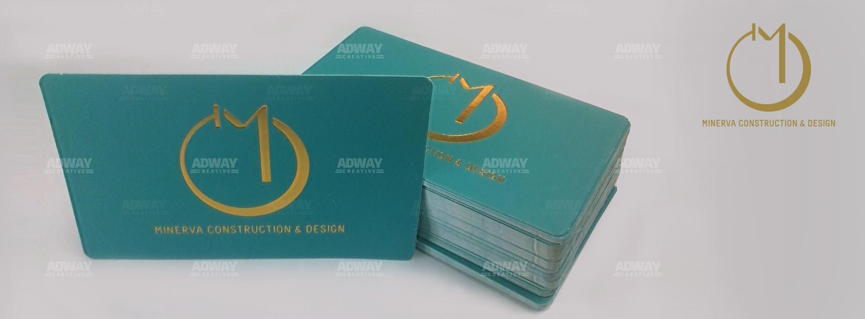 Визитни картички със златно фолио