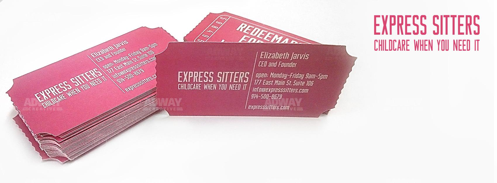 визитни картички със щанца - форма по избор